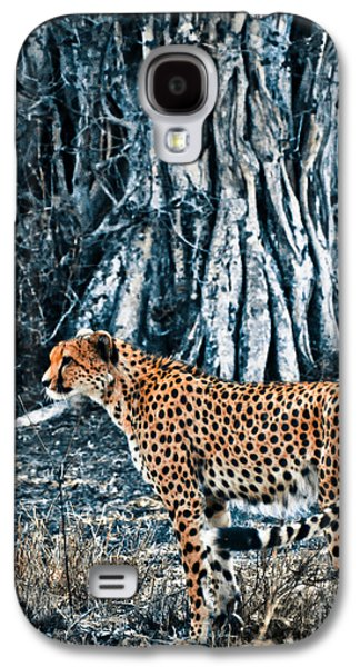 Duo Tone Galaxy S4 Cases - Alert Cheetah Galaxy S4 Case by Darcy Michaelchuk