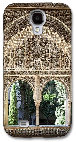 Columns Galaxy S4 Cases - Alhambra windows Galaxy S4 Case by Jane Rix