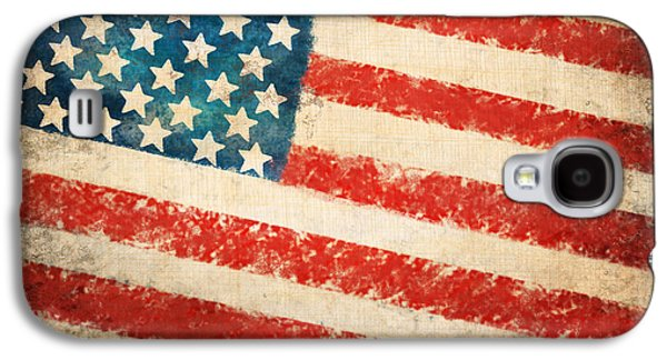 Ancient Pastels Galaxy S4 Cases - America flag Galaxy S4 Case by Setsiri Silapasuwanchai