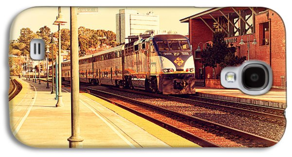 Transportation Photographs Galaxy S4 Cases - Amtrak Train At The Martinez California Train Station . 7D10495 Galaxy S4 Case by Wingsdomain Art and Photography