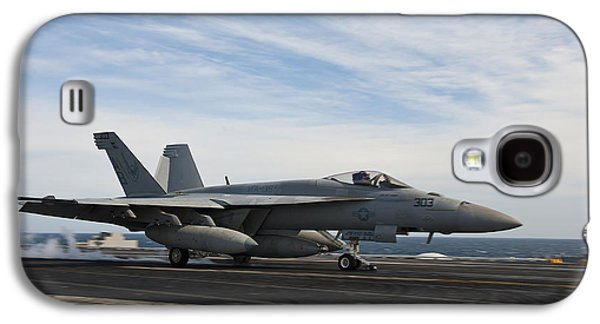Enterprise Galaxy S4 Cases - An Fa-18f Super Hornet Takes Galaxy S4 Case by Stocktrek Images