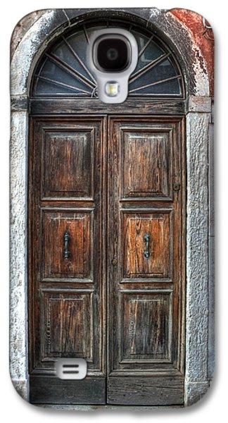 Wooden Door Galaxy S4 Cases - an old wooden door in Italy Galaxy S4 Case by Joana Kruse