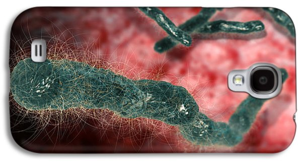 Microbiological Galaxy S4 Cases - Anthrax Bacteria Galaxy S4 Case by Karsten Schneider