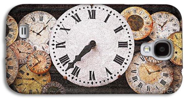 Clock Galaxy S4 Cases - Antique clocks Galaxy S4 Case by Elena Elisseeva