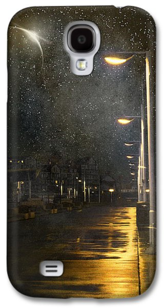 Lamp Post Mixed Media Galaxy S4 Cases - at Night Galaxy S4 Case by Svetlana Sewell