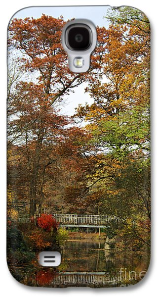 Trees Photographs Galaxy S4 Cases - Autumn forest Galaxy S4 Case by Angela Doelling AD DESIGN Photo and PhotoArt
