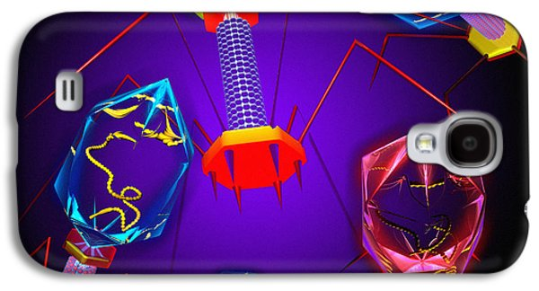 Microbiological Galaxy S4 Cases - Bacteriophages Galaxy S4 Case by Mehau Kulyk