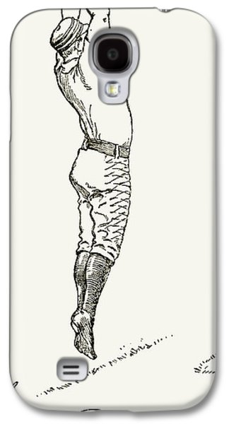 1st Base Galaxy S4 Cases - Baseball Player, 1889 Galaxy S4 Case by Granger
