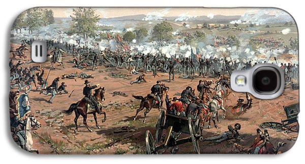 United States Galaxy S4 Cases - Battle of Gettysburg Galaxy S4 Case by War Is Hell Store