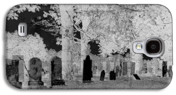 Creepy Digital Galaxy S4 Cases - Be Afraid... Galaxy S4 Case by Rhonda Barrett