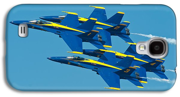 Jet Photographs Galaxy S4 Cases - Blue Angels Galaxy S4 Case by Sebastian Musial