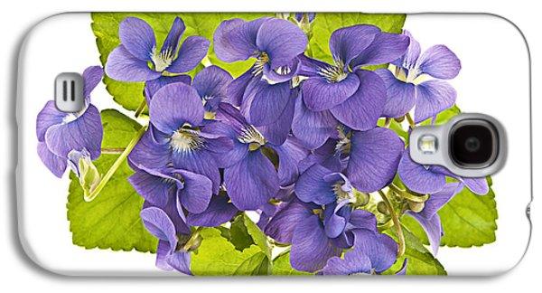Violet Galaxy S4 Cases - Bouquet of violets Galaxy S4 Case by Elena Elisseeva