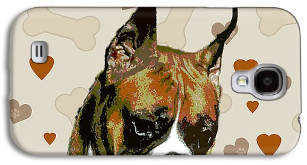 Boxer Puppy Digital Art Galaxy S4 Cases - Boxer Galaxy S4 Case by One Rude Dawg Orcutt