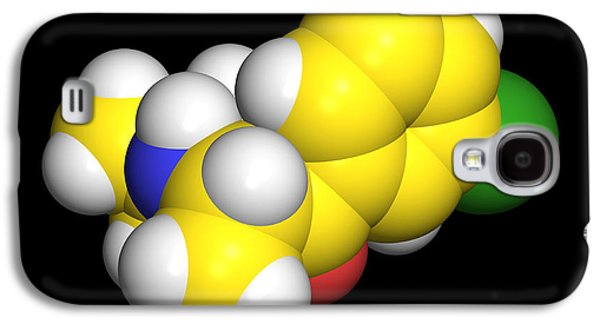 Antidepressant Galaxy S4 Cases - Bupropion Drug Molecule Galaxy S4 Case by Dr Tim Evans