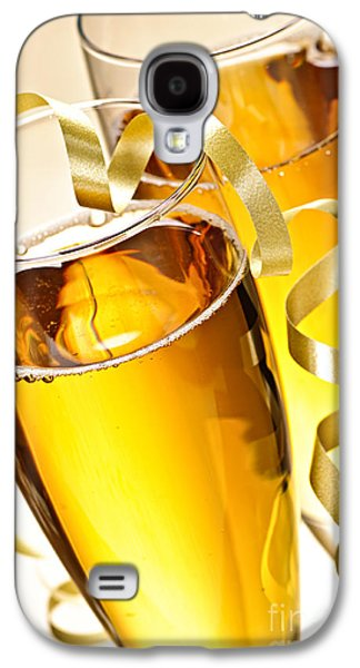 Festivities Galaxy S4 Cases - Champagne glasses Galaxy S4 Case by Elena Elisseeva