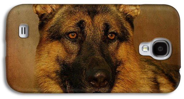 Dogs Digital Galaxy S4 Cases - Chance Galaxy S4 Case by Sandy Keeton