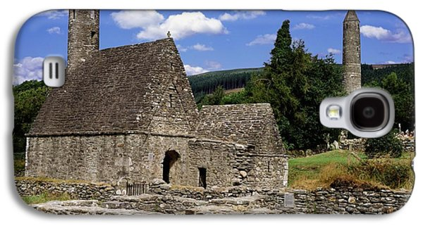 Monasticism Galaxy S4 Cases - Chapel Of Saint Kevin At Glendalough Galaxy S4 Case by The Irish Image Collection