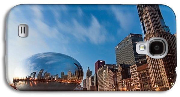 Avenue Galaxy S4 Cases - Chicago Skyline and bean at sunrise Galaxy S4 Case by Sven Brogren