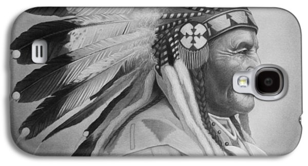 Native Drawings Galaxy S4 Cases - Chief Galaxy S4 Case by Tim Dangaran