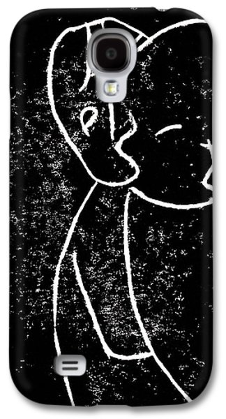 Lino Paintings Galaxy S4 Cases - Cleft Lip Galaxy S4 Case by Anon Artist
