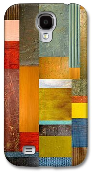 Textural Galaxy S4 Cases - Color Panels with Blue Sky Galaxy S4 Case by Michelle Calkins