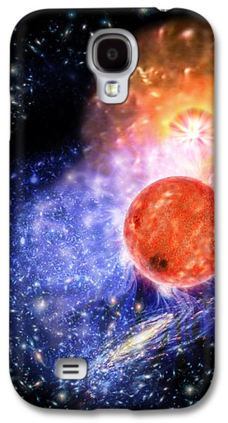 Astronomy Paintings Galaxy S4 Cases - Cosmic Evolution Galaxy S4 Case by Don Dixon