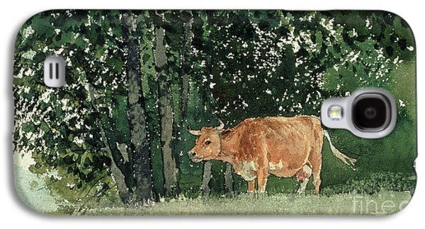 Cow In Pasture Galaxy S4 Case by Winslow Homer