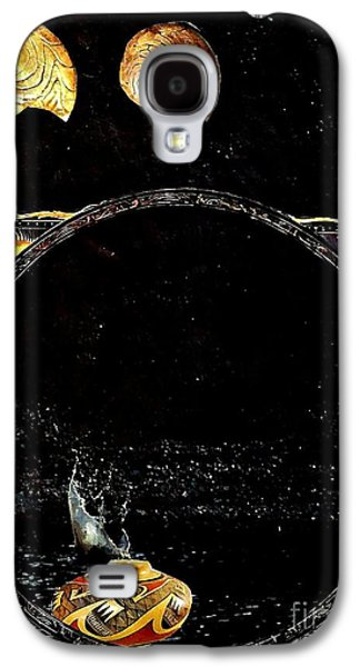 Ceramic Mixed Media Galaxy S4 Cases - Creation of Water Galaxy S4 Case by Sarah Loft