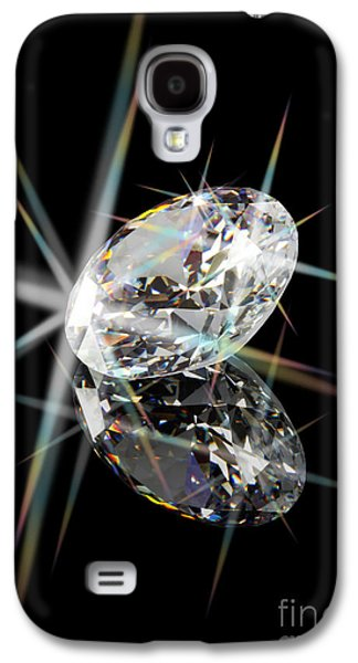 Stones Jewelry Galaxy S4 Cases - Diamond Galaxy S4 Case by Atiketta Sangasaeng
