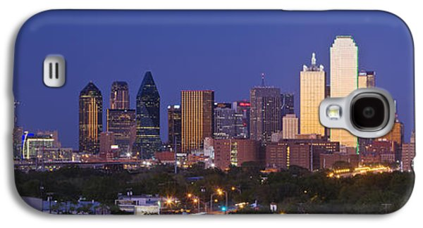 Nobody Photographs Galaxy S4 Cases - Downtown Dallas Skyline at Dusk Galaxy S4 Case by Jeremy Woodhouse
