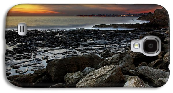 Sunset Abstract Galaxy S4 Cases - Dramatic Coastline Galaxy S4 Case by Carlos Caetano