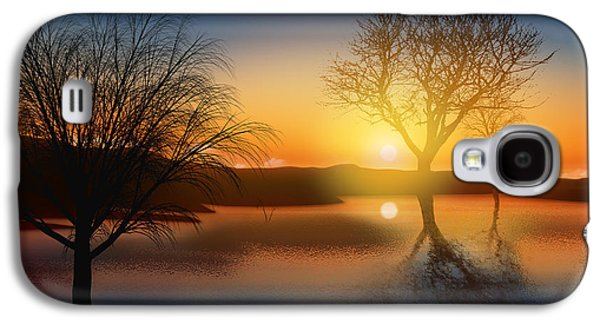 Sunset Abstract Galaxy S4 Cases - Dramatic Landscape Galaxy S4 Case by Setsiri Silapasuwanchai