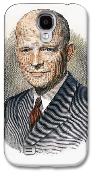 1950s Portraits Galaxy S4 Cases - Dwight D. Eisenhower Galaxy S4 Case by Granger
