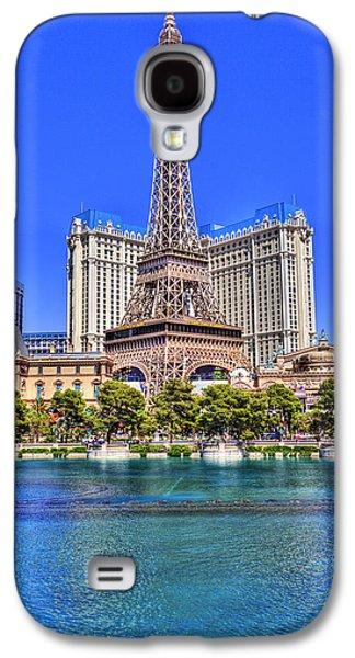 Old School Houses Galaxy S4 Cases - Eiffel Tower Las Vegas Galaxy S4 Case by Nicholas  Grunas