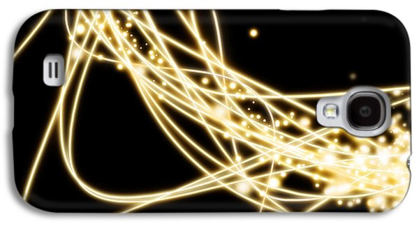 Abstract Movement Galaxy S4 Cases - Electric Lines Galaxy S4 Case by Setsiri Silapasuwanchai
