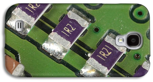 Component Photographs Galaxy S4 Cases - Electronics Board With Lead Solder Galaxy S4 Case by Ted Kinsman