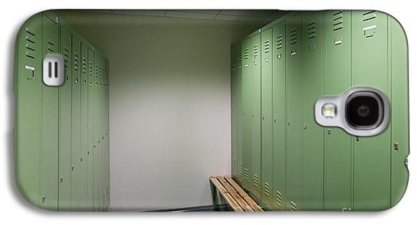 Dressing Room Galaxy S4 Cases - Empty Locker Room Galaxy S4 Case by Jaak Nilson