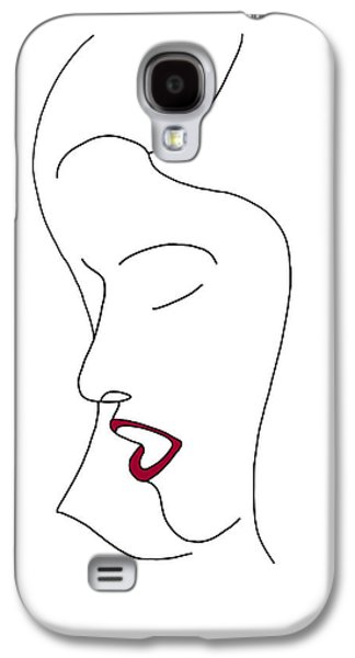 Head Drawings Galaxy S4 Cases - Fashion sketch Galaxy S4 Case by Frank Tschakert