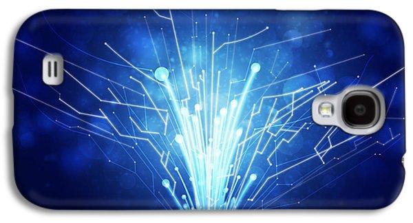 Chip Photographs Galaxy S4 Cases - Fiber Optics And Circuit Board Galaxy S4 Case by Setsiri Silapasuwanchai