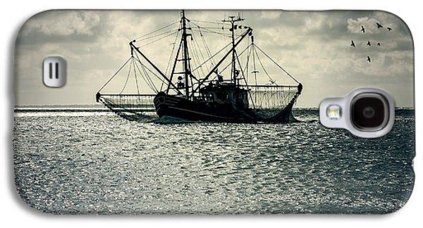 North Sea Galaxy S4 Cases - Fishing Boat Galaxy S4 Case by Joana Kruse