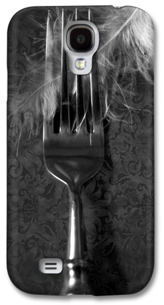 Table Cloth Galaxy S4 Cases - Fork And Feather Galaxy S4 Case by Joana Kruse