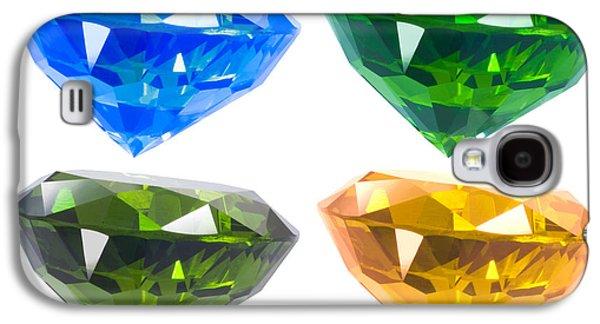 Green Jewelry Galaxy S4 Cases - Four diamond Galaxy S4 Case by Atiketta Sangasaeng