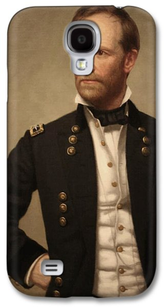 America Paintings Galaxy S4 Cases - General William Tecumseh Sherman Galaxy S4 Case by War Is Hell Store