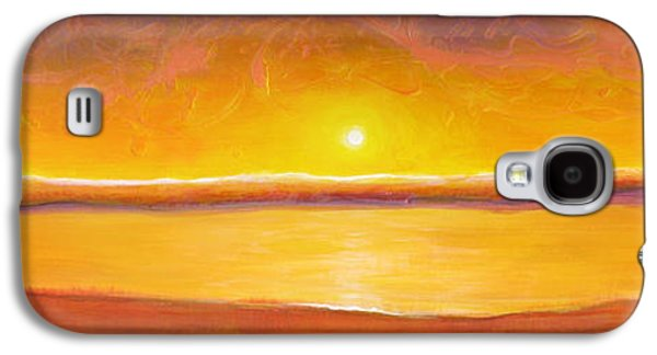 Abstract Landscape Galaxy S4 Cases - Gold Sunset Galaxy S4 Case by Jaison Cianelli