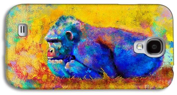 Ape Digital Art Galaxy S4 Cases - Gorilla Gorilla Galaxy S4 Case by Betty LaRue
