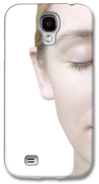 Right Side Galaxy S4 Cases - Healthy Womans Face Galaxy S4 Case by
