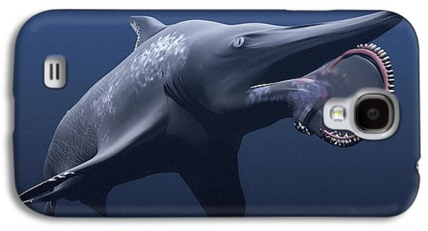 Under Water. Nature Galaxy S4 Cases - Helicoprion Prehistoric Shark Galaxy S4 Case by Christian Darkin