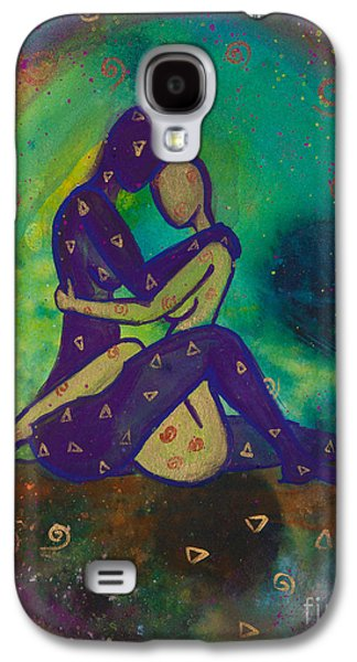 Passion Galaxy S4 Cases - Her Loves Embrace Galaxy S4 Case by Ilisa  Millermoon