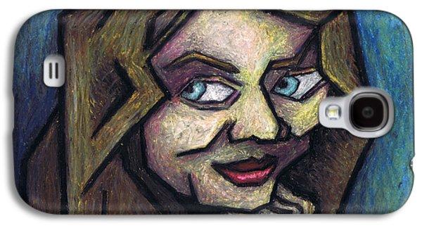 Original Art Pastels Galaxy S4 Cases - Her Smile Galaxy S4 Case by Kamil Swiatek