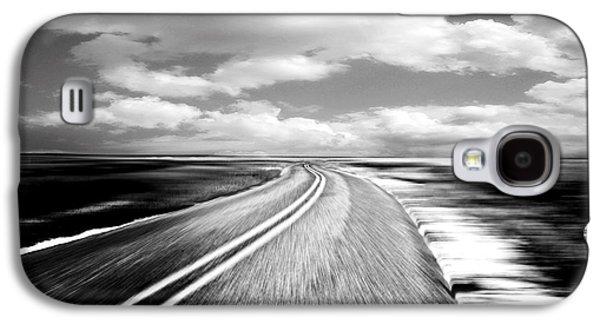 Black Top Galaxy S4 Cases - Highway Run Galaxy S4 Case by Scott Pellegrin